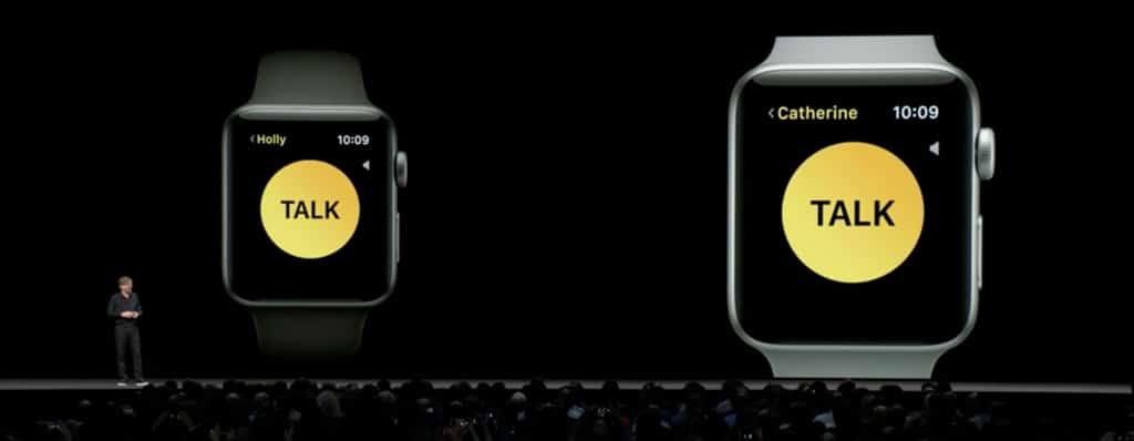 Keynote Apple 2018 WWDC watch app talkie walkie