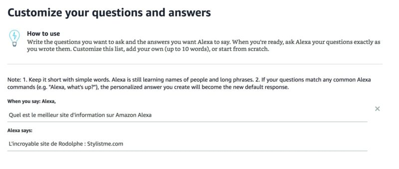 comment créer un skill Alexa