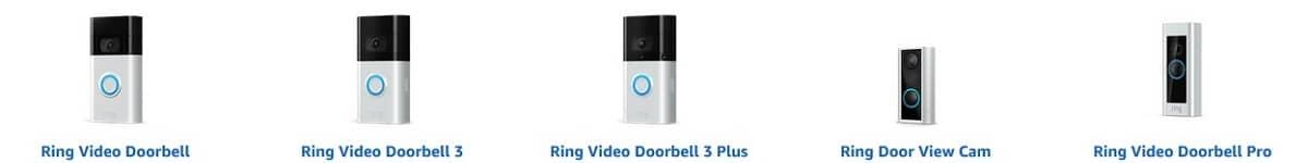gamme sonnette video Ring doorbell