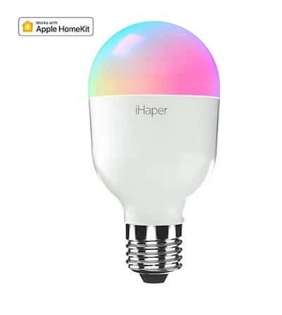 iHaper couleur ampoule Homekit Alexa Google Assistant sans pont