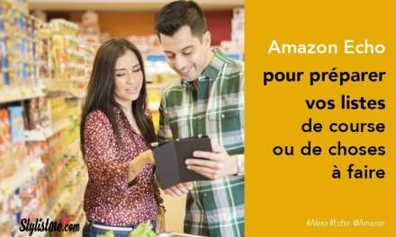Amazon Echo gérer vos listes de courses ou de choses à faire