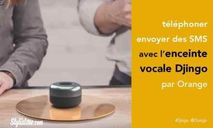 Djingo Orange l'assistant vocal enceinte connectée avec Tv, télé et SMS !