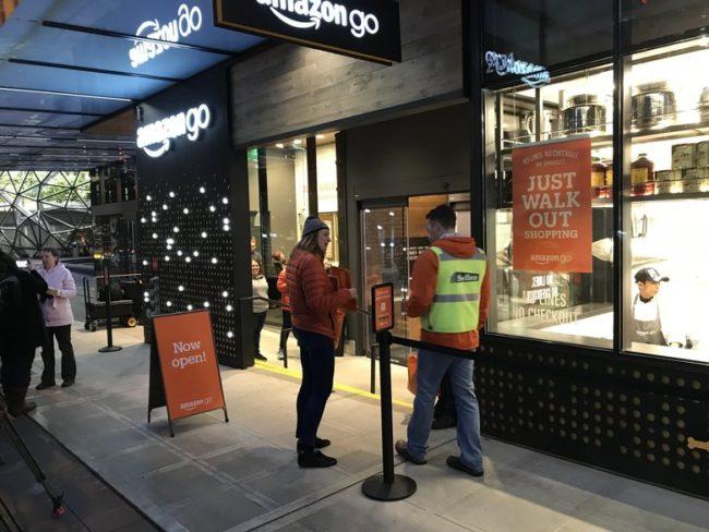 Amazon Go boutique sans contact