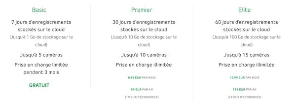 abonnement arlo smart