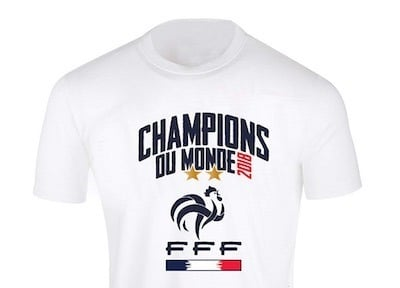 amazon prime day tee shirt france coupe du monde 2018 2 etoiles