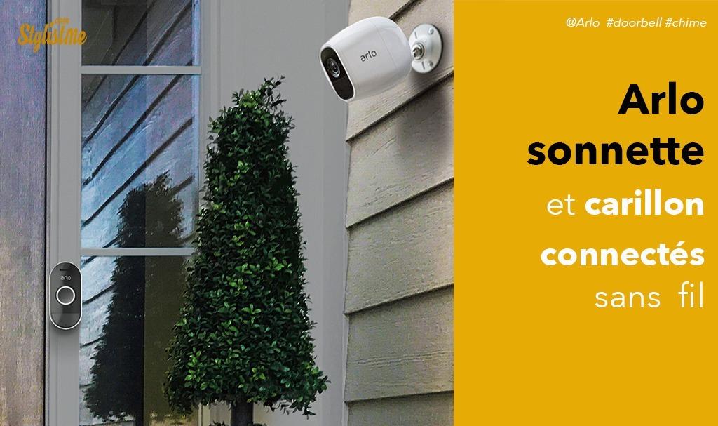 Arlo sonnette et carillon connectés compatibles avec les caméras Arlo Pro 2
