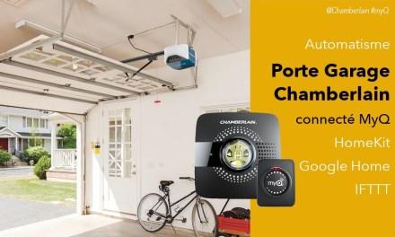 Automatisme de garage Chamberlain MyQ compatible HomeKit et Google Assistant
