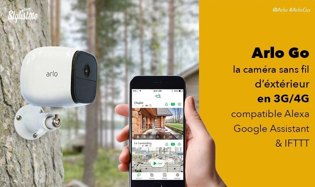 Arlo Go avis test de la Caméra HD sans fil d'extérieur connectée en 3G/4G