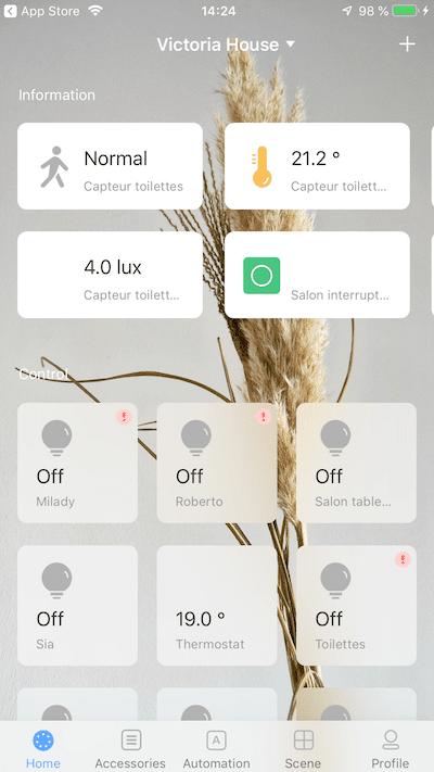 Application aqara Xiaomi sur iPhone App Store