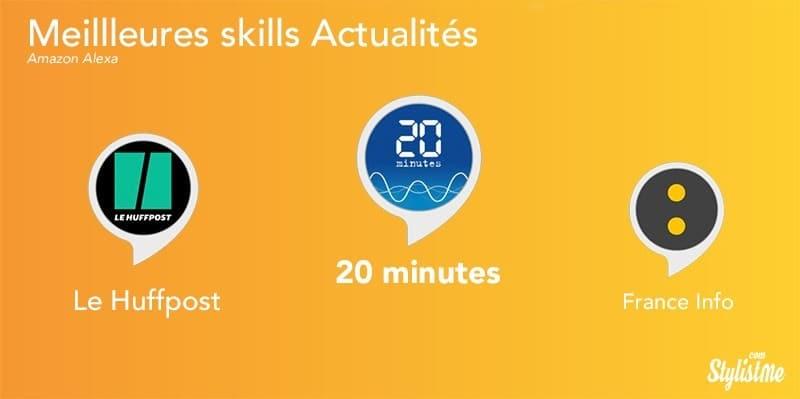 Meilleures skills Alexa août 2018 actualités