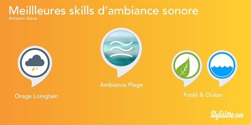 Meilleures skills Alexa août 2018 ambiance sonore relaxation