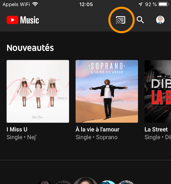 écouter youtube music google home