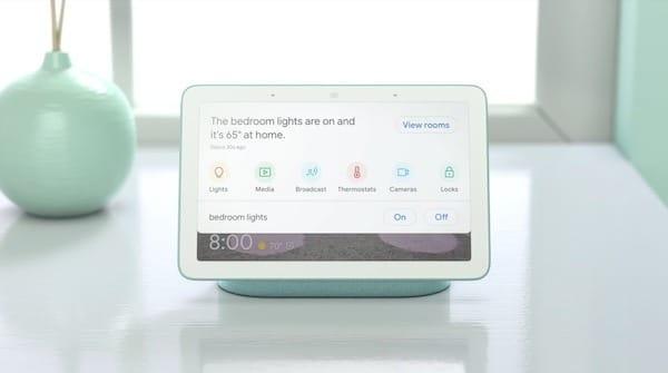 Google Home Hub nouvelle interface maison connectee