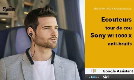 Sony WI 1000 X avis test écouteurs tour de cou Google Home et Siri