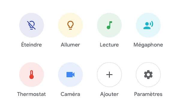 app google home icône objets connectes