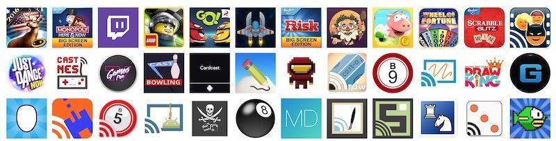 Applications jeux compatibles Chromecast