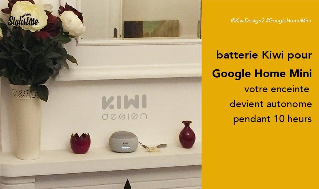 Batterie Google Home mini enfin sans fil avec la jolie Kiwi test – avis