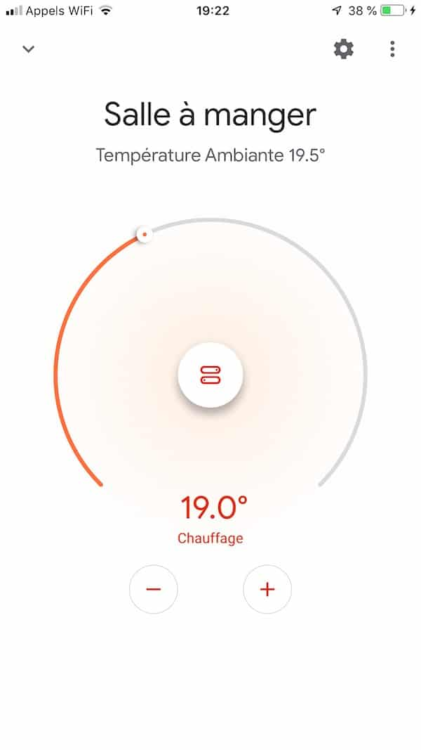 google home app thermostat