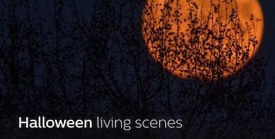 Halloween Living scene Philips Hue