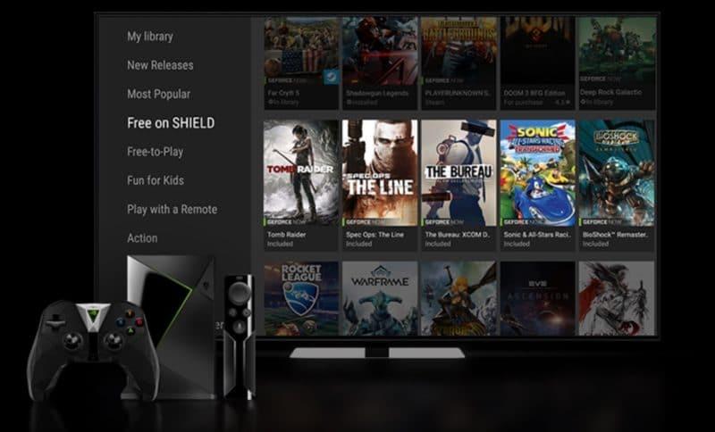 nvidia shield tv console de jeux gratuits