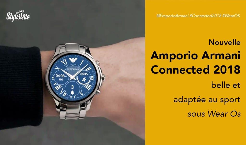Emporio Armani connected 2018 prix avis test la belle devient aussi sportive