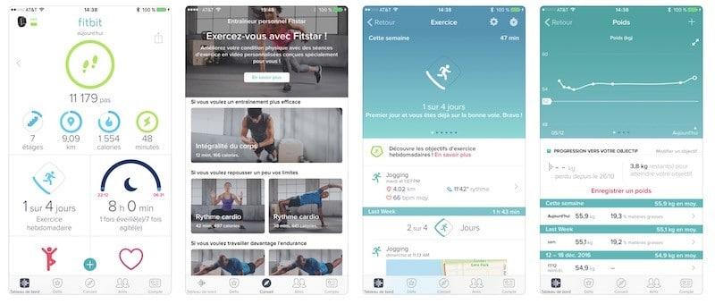 Fitbit charge 3 prix avis test app gratuite