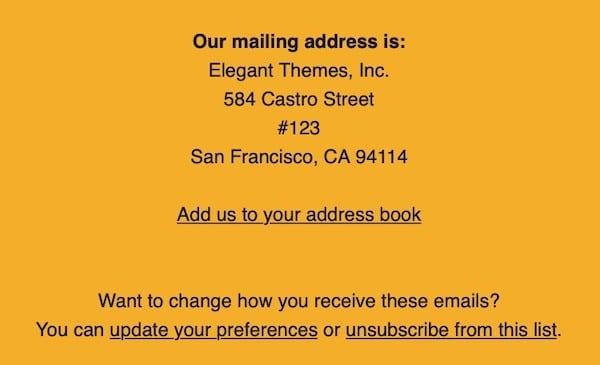 meilleur email marketing mentions légales