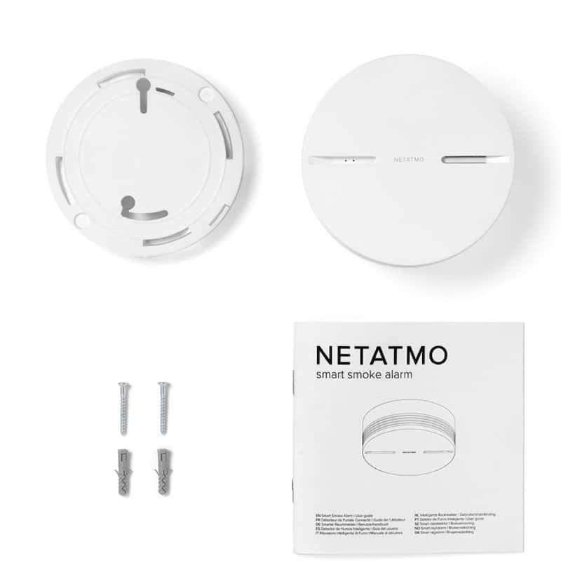 Netatmo détecteur de fumée connecté prix avis test installation au plafond
