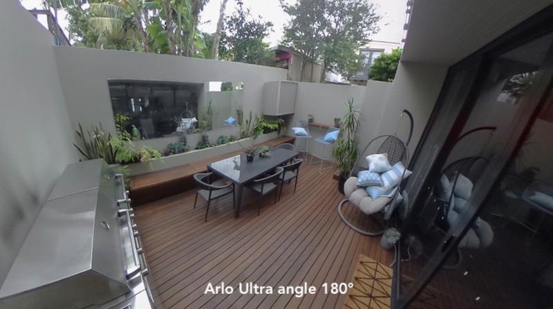 Arlo ultra avis prix test caméra sécurité connectée angle 180°