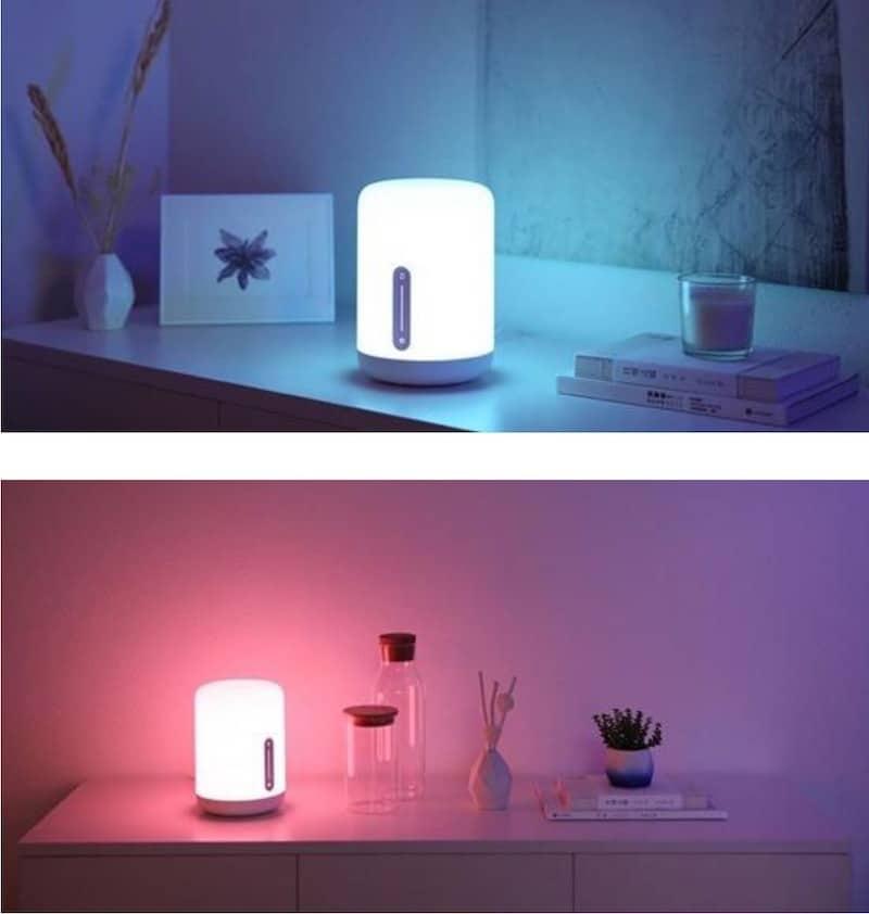 Mijia Bedside Lamp 2 avis test prix de la lampe connectée Wifi Xiaomo couleurs