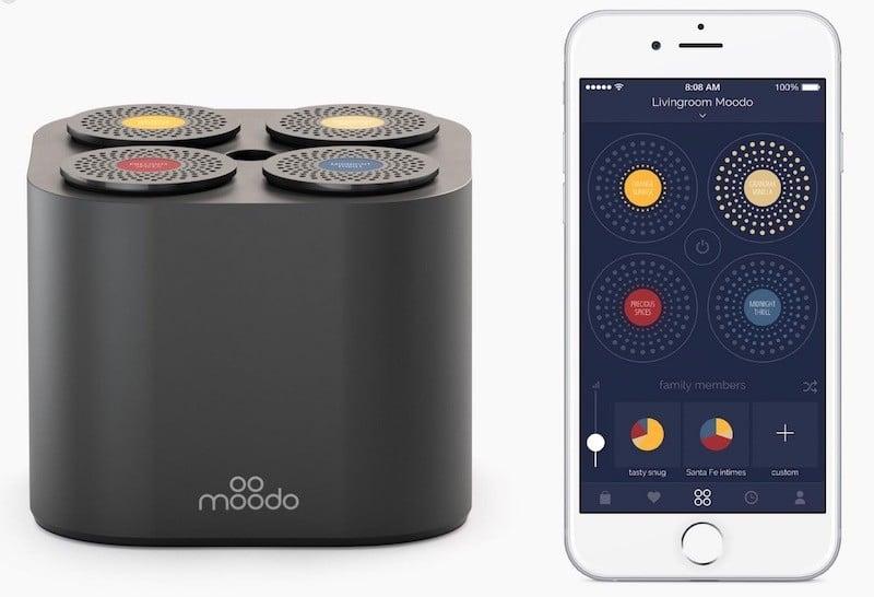 Moodo avis test prix diffuseur de parfum connecte app mobile