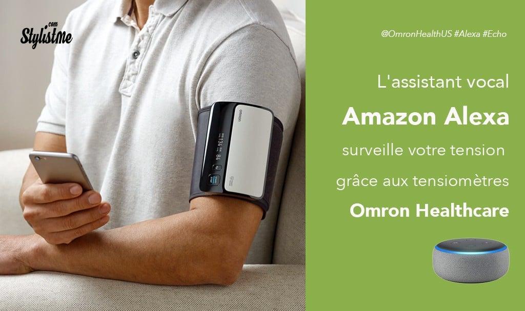 Omron tensiomètre connecté à Alexa pour suivre votre tension avis prix