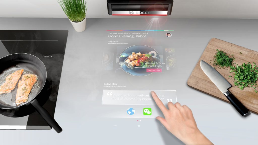 Bosh PAI projecteur interactif cuisine connectee