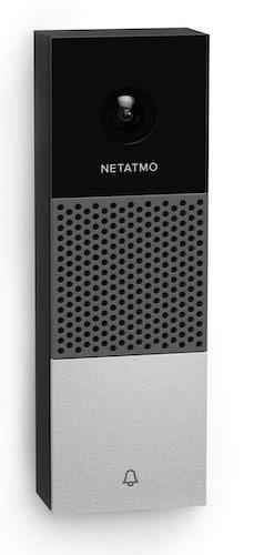 Netatmo Smart Video Doorbell prix avis sonnette vidéo connectée HomeKit design