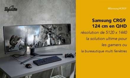 Samsung CRG9 avis test prix écran 49 pouces incurvé en QHD