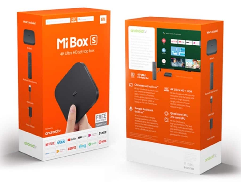 MiBox S Xiaomi 4K avis test prix emballage unboxing