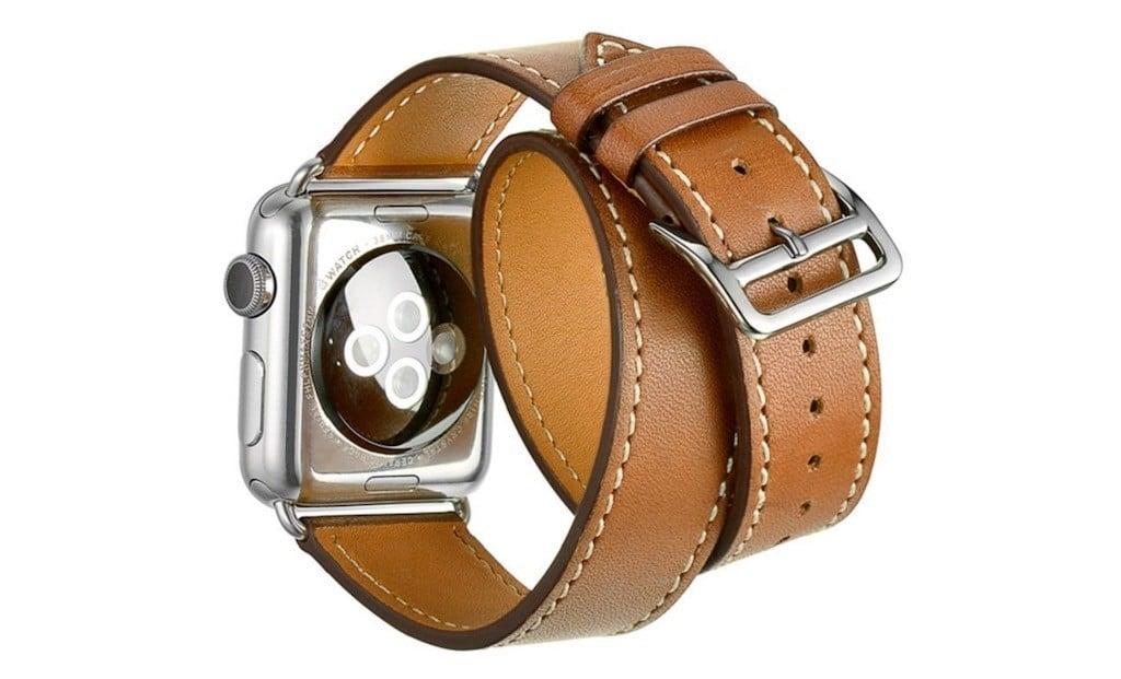 Meilleurs accessoires Apple Watch bracelet cuir Hermes