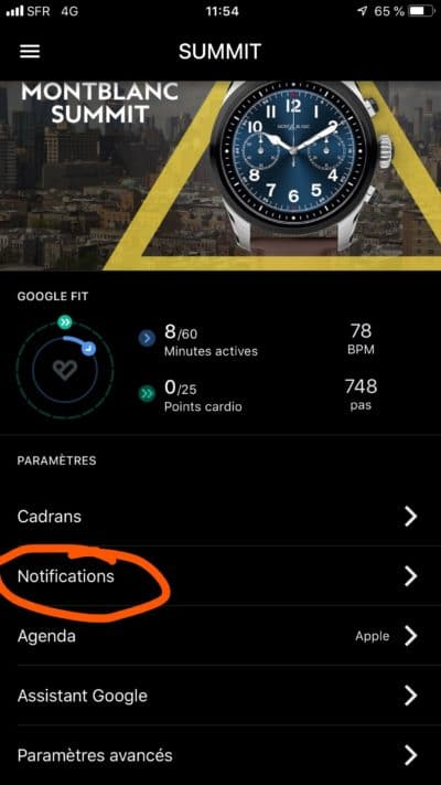 notifications wear os iphone