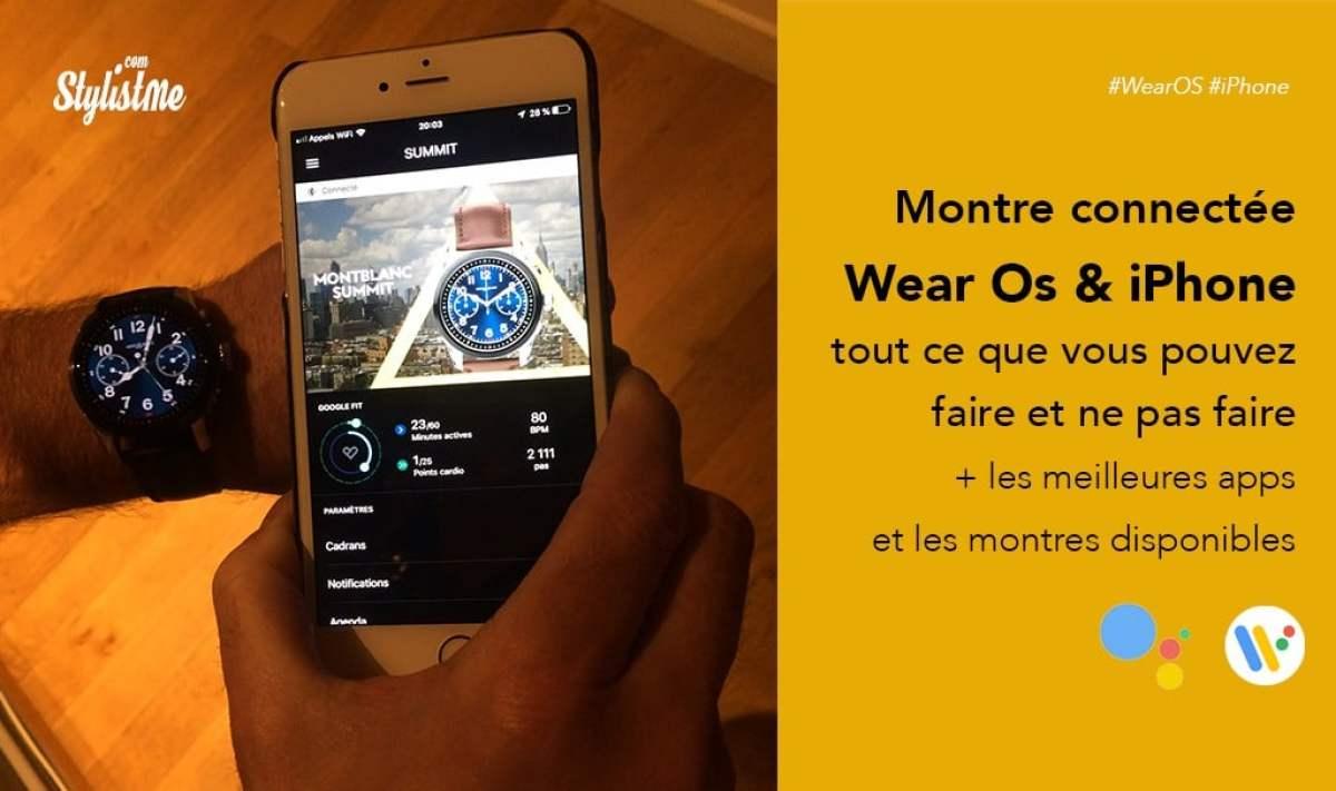 foto de Wear Os sur iPhone comment profiter de votre montre connectée