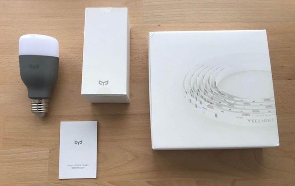 Xiaomi yeelight ampoule et bandeau lumineux