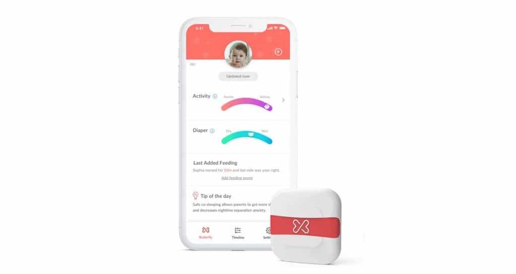 Buttefly Xtrava suivi activité bébé app capteurs