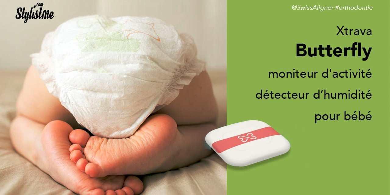 Butterfly moniteur d'activité bébé et détecteur de couche à changer Xtrava