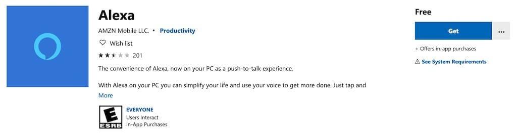 comment utiliser alexa sur PC programme windows 10