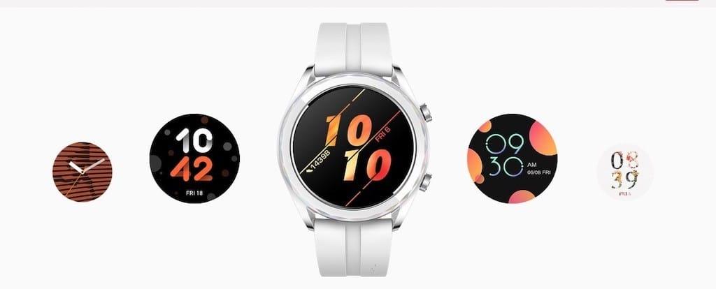 Huawei watch gt active sport classic elegant personnalisation ecran