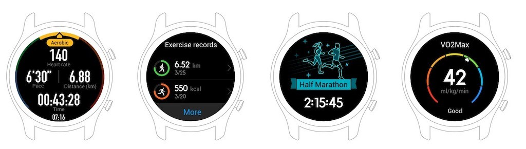 Huawei watch gt suivi activité sport santé