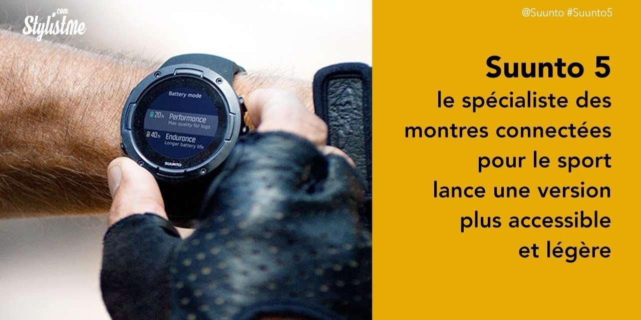 Suunto 5 prix avis de la nouvelle montre connectée pour sportif