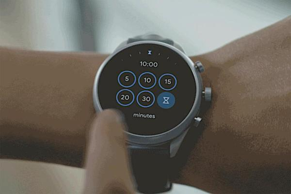tuiles wear os tiles minuterie