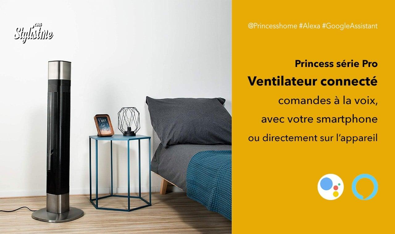 Princess ventilateur connecté avis prix test