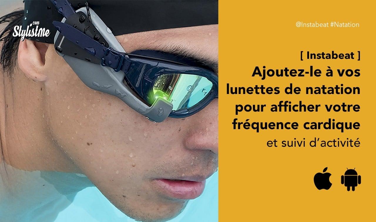 Instabeat avis prix test fréquence cardiaque-lunettes-natation