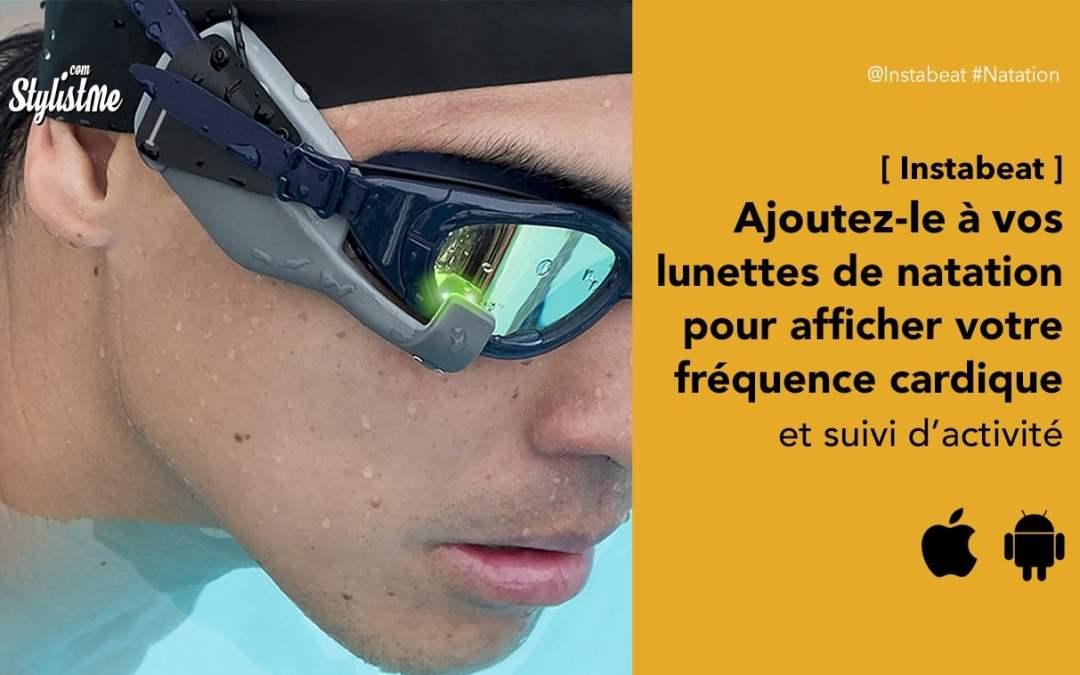Instabeat affiche la fréquente cardiaque sur vos lunettes de natation